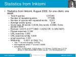 statistics from inktomi