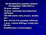 es strukt rin s politikos efektas portugalijoje 1986 2002 m