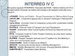 interreg iv c
