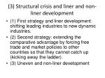 3 structural crisis and liner and non liner development