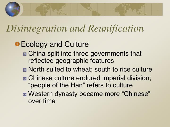 Disintegration and Reunification