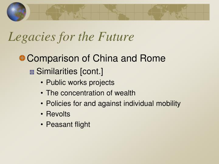Legacies for the Future