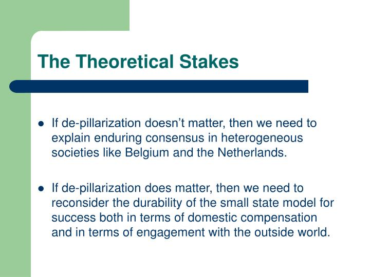 The Theoretical Stakes
