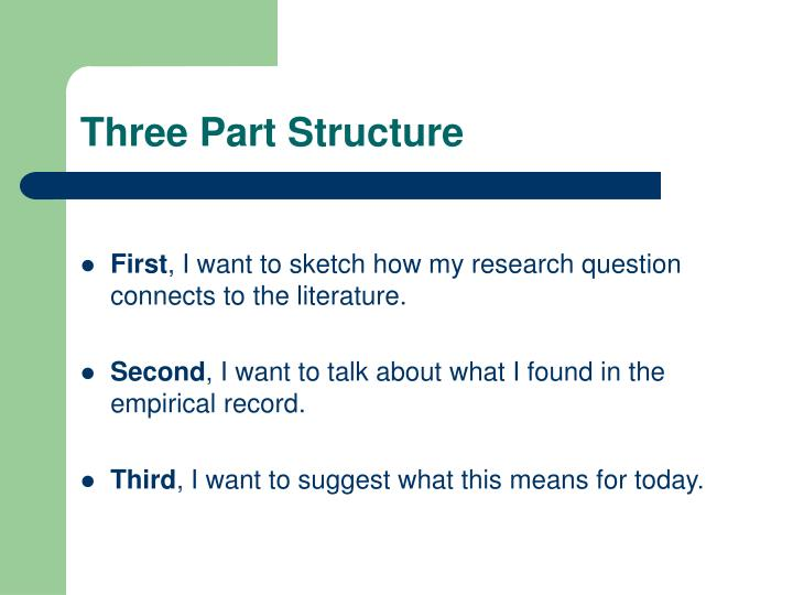 Three Part Structure