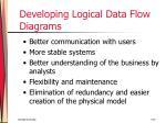 developing logical data flow diagrams