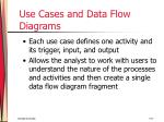 use cases and data flow diagrams