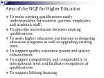 aims of the nqf for higher education