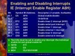 enabling and disabling interrupts ie interrupt enable register a8h