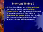 interrupt timing 2