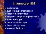 interrupts of 8051