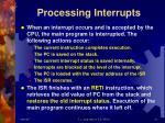 processing interrupts