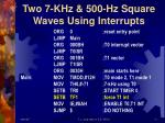 two 7 khz 500 hz square waves using interrupts