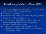 introducing javaserver faces jsf