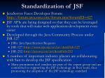 standardization of jsf