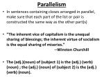 parallelism