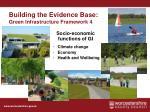 building the evidence base green infrastructure framework 4