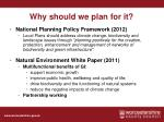 why should we plan for it