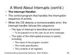 a word about interrupts cont d2