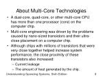 about multi core technologies
