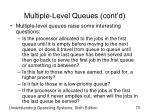 multiple level queues cont d1