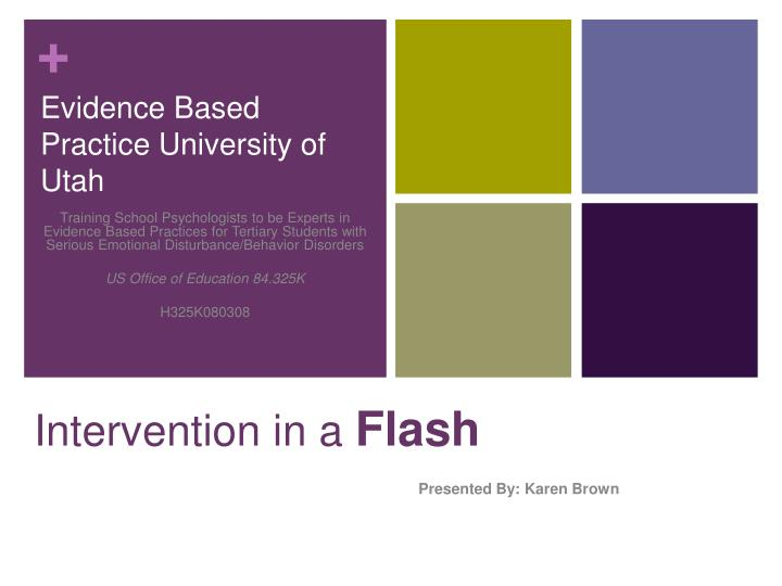 intervention in a flash n.
