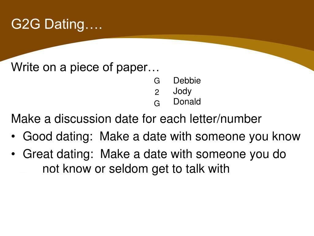 G2g dating