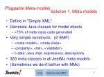 solution 1 meta models