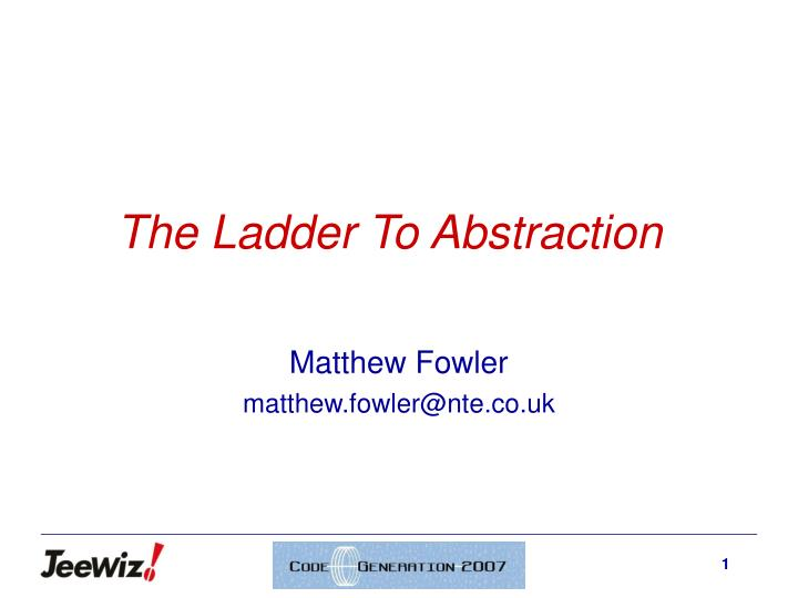 the ladder to abstraction n.