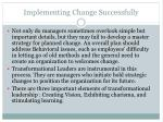 implementing change successfully1