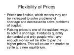 flexibility of prices