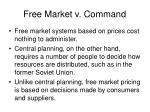 free market v command