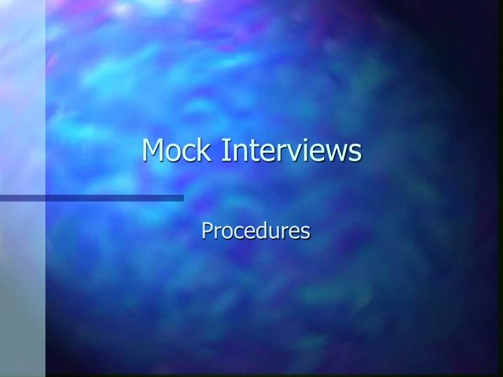 mock interviews n.