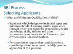 bbi process selecting applicants2