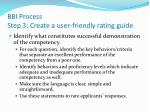 bbi process step 3 create a user friendly rating guide