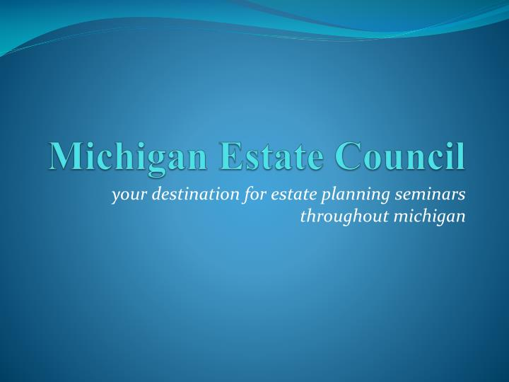 michigan estate council n.