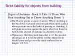 strict liability for objects from building2