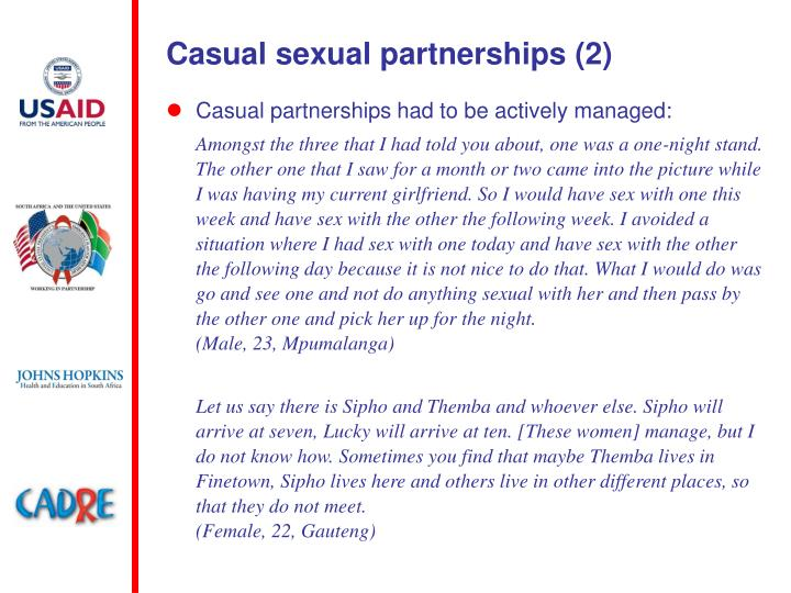 Casual sexual partnerships (2)
