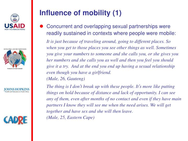 Influence of mobility (1)