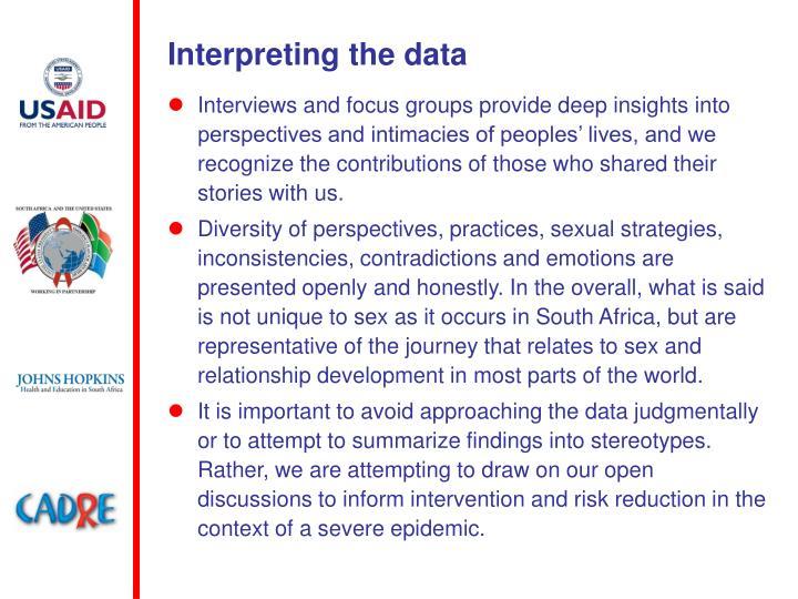 Interpreting the data