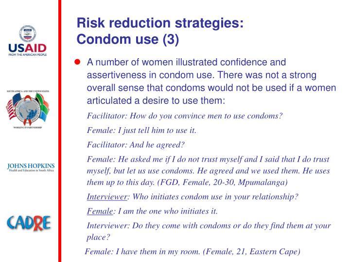 Risk reduction strategies: