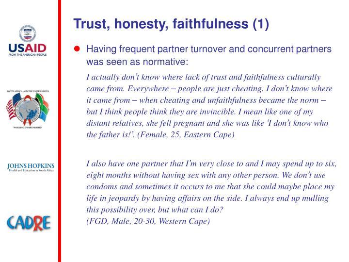 Trust, honesty, faithfulness (1)