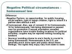 negative political circumstances homosexual law