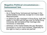 negative political circumstances homosexual law1