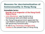 reasons for decriminalization of homosexuality in hong kong