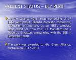 present status bly ph ii