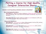 plotting a course for high quality caregiver interaction shores11
