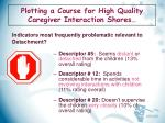 plotting a course for high quality caregiver interaction shores15