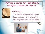 plotting a course for high quality caregiver interaction shores2
