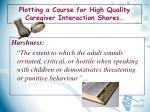 plotting a course for high quality caregiver interaction shores3