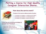 plotting a course for high quality caregiver interaction shores7
